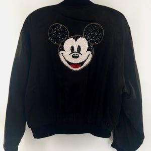 Mickey Mouse By Jou Jou Sequin Bomber Jacket